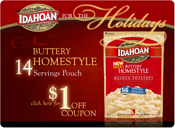 Idahoan Buttery Homestyle 14-Servings - $1 Coupon Offer