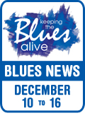 Keeping The Blues Alive brings you Blues News. Week of December 10th to 16th